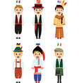 cute cartoon people dress difference nationality vector image