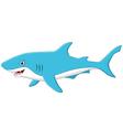 cute cartoon shark vector image vector image