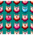 Cute owl pattern vector image vector image