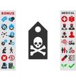 Death Mark Icon vector image vector image