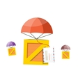 Delivery Box Air Mail Parachute vector image vector image