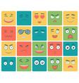 emoticons set emoji isolated on white background vector image
