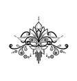 Ethnic elegant floral entangle pattern isolated