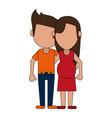family members avatars icon image vector image