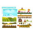 farming infographic elements with farmer farm vector image vector image