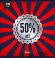 fifty percent offer product promotion vector image vector image