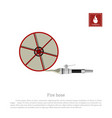 fire hose on a white background vector image vector image