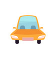 flat cartoon yellow sedan car isolated vector image