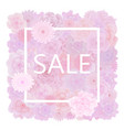 Floral sale background with blooming pink roses