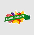 Food market sign vector image vector image