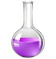 Glass beaker with purple liquid vector image vector image