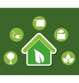 go green ecology vector image vector image
