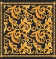 golden baroque rich luxury pattern vector image vector image