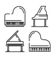 grand piano icons set outline style vector image vector image