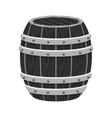 grayscale wooden barrel icon image design vector image vector image