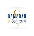 greeting banner ramadan kareem vector image