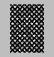 grey star shape pattern background brochure vector image vector image
