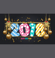 happy new year 2018 wallpaper gold balls and vector image vector image