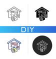home repairs black glyph icon vector image vector image
