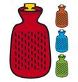hot water bottle vector image vector image