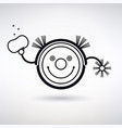 icon robot vacuum cleaner vector image