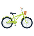 kid bicycle on white background children bike vector image vector image
