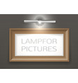 lamp for the picture vector image vector image