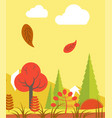 leaves walling in forest vector image vector image