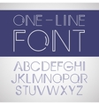 linear font One line style font vector image