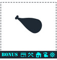 meat leg icon flat vector image vector image