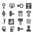 medical diagnostic and test icons set vector image