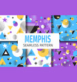 memphis samples pattern set geometric flat vector image