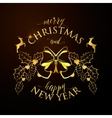 Merry Christmas and Happy vector image vector image