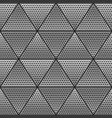 metal triangle seamless pattern vector image