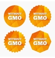No GMO sign Without Genetically modified food vector image vector image