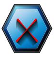 Non button vector image vector image