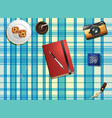 objects on table top view vector image vector image