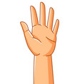 raised hand sign consent vector image vector image