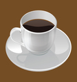 realistic of a coffee cup vector image vector image