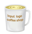 Realistically drawn mug for you pr vector image vector image