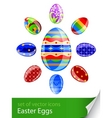 set Easter eggs vector image vector image