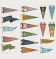 set of adventure outdoors camping colorful vector image