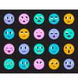 Set of Emoticons or Emoji vector image vector image