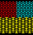 set of geometric patterns from hexagons on vector image
