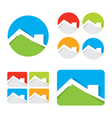 set of real estate house icons vector image vector image