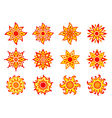 Stylized suns vector image vector image
