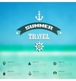 Summer abstract blurreddefocused background with vector image vector image