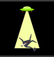 ufo takes businessman aliens kidnap boss office vector image