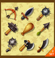 weapon icons-set 2 vector image vector image