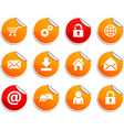 web stickers vector image